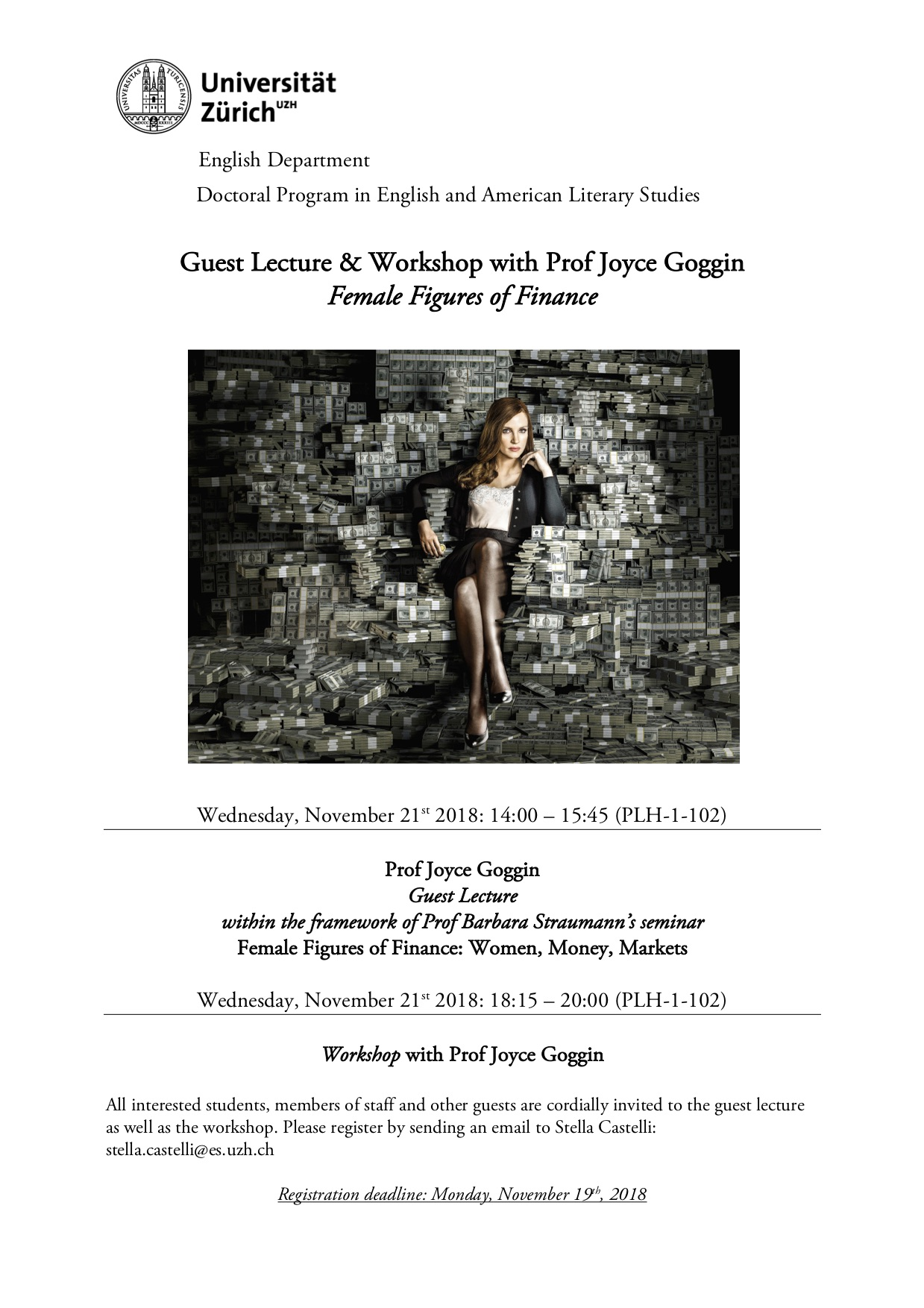 Guest Lecture & Workshop with Prof Joyce Goggin