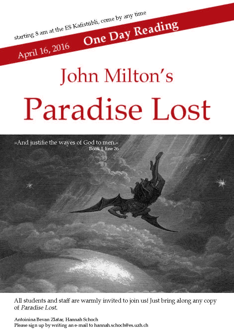 One-Day Reading of Paradise Lost